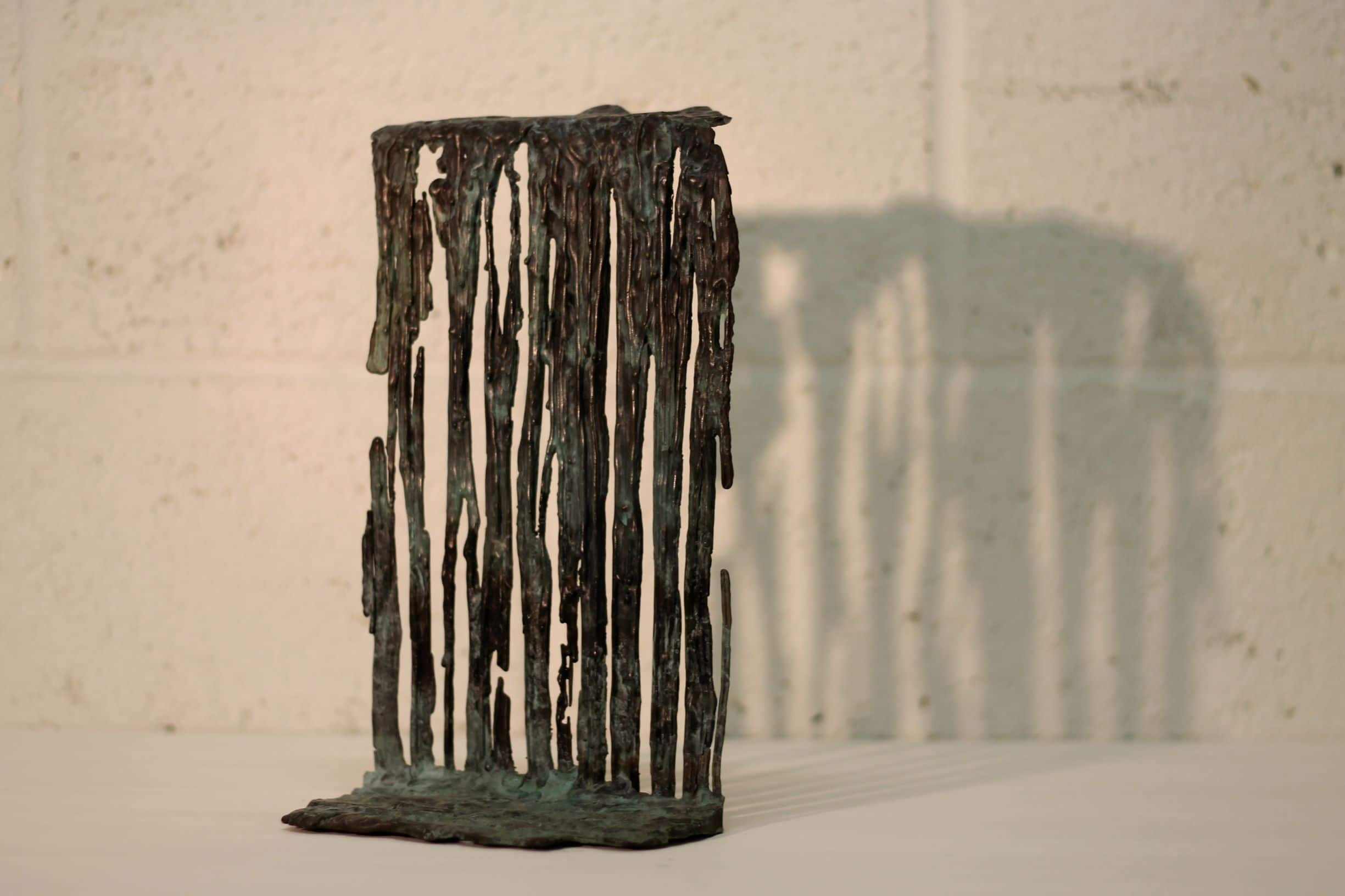All things must pass. Alice Cunningham.Bronze, waterfall.1 a